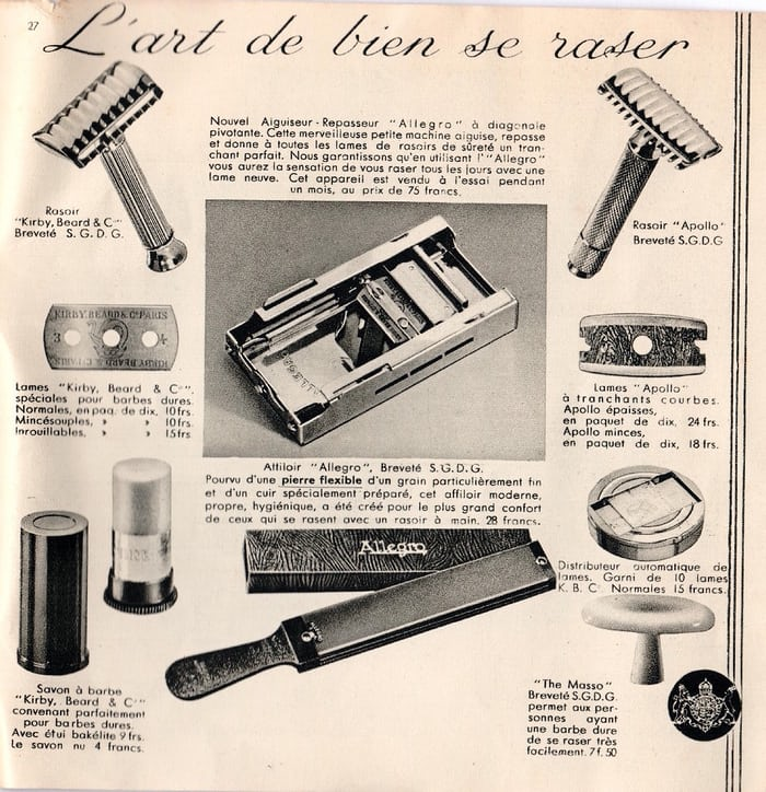 Kirby Beard Co. Catalog shaving