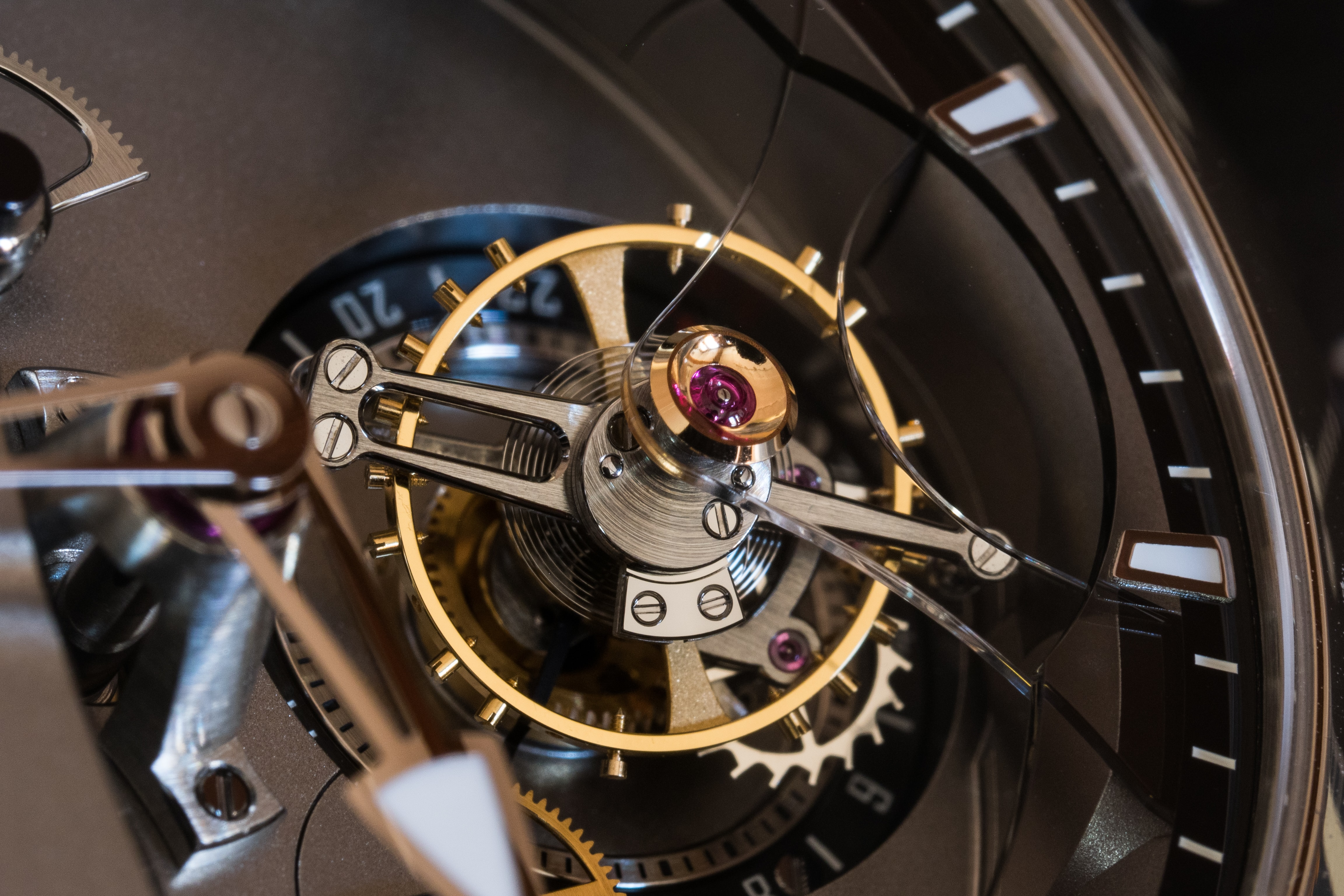 Greubel Forsey 24 Secondes Contemporain tourbillon balance and stud In-Depth: The Greubel Forsey 24 Secondes Contemporain In White Gold (And The Case For A Tourbillon In A Wristwatch) In-Depth: The Greubel Forsey 24 Secondes Contemporain In White Gold (And The Case For A Tourbillon In A Wristwatch) PC191053