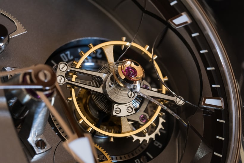 Greubel Forsey 24 Secondes Contemporain tourbillon balance and stud