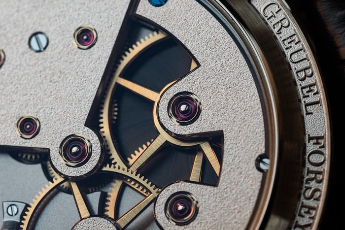 Greubel Forsey 24 Secondes Contemporain movement bridge and mainplate