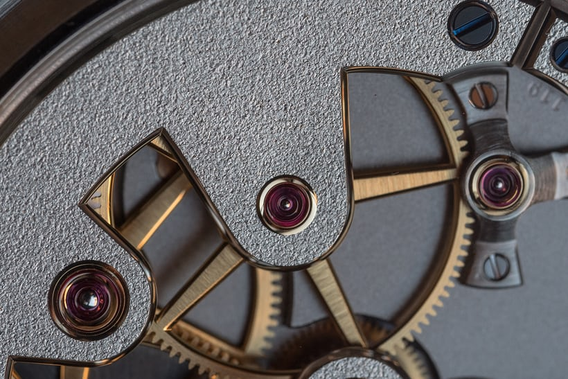 Greubel Forsey 24 Secondes Contemporain closeup tourbillon driving wheel