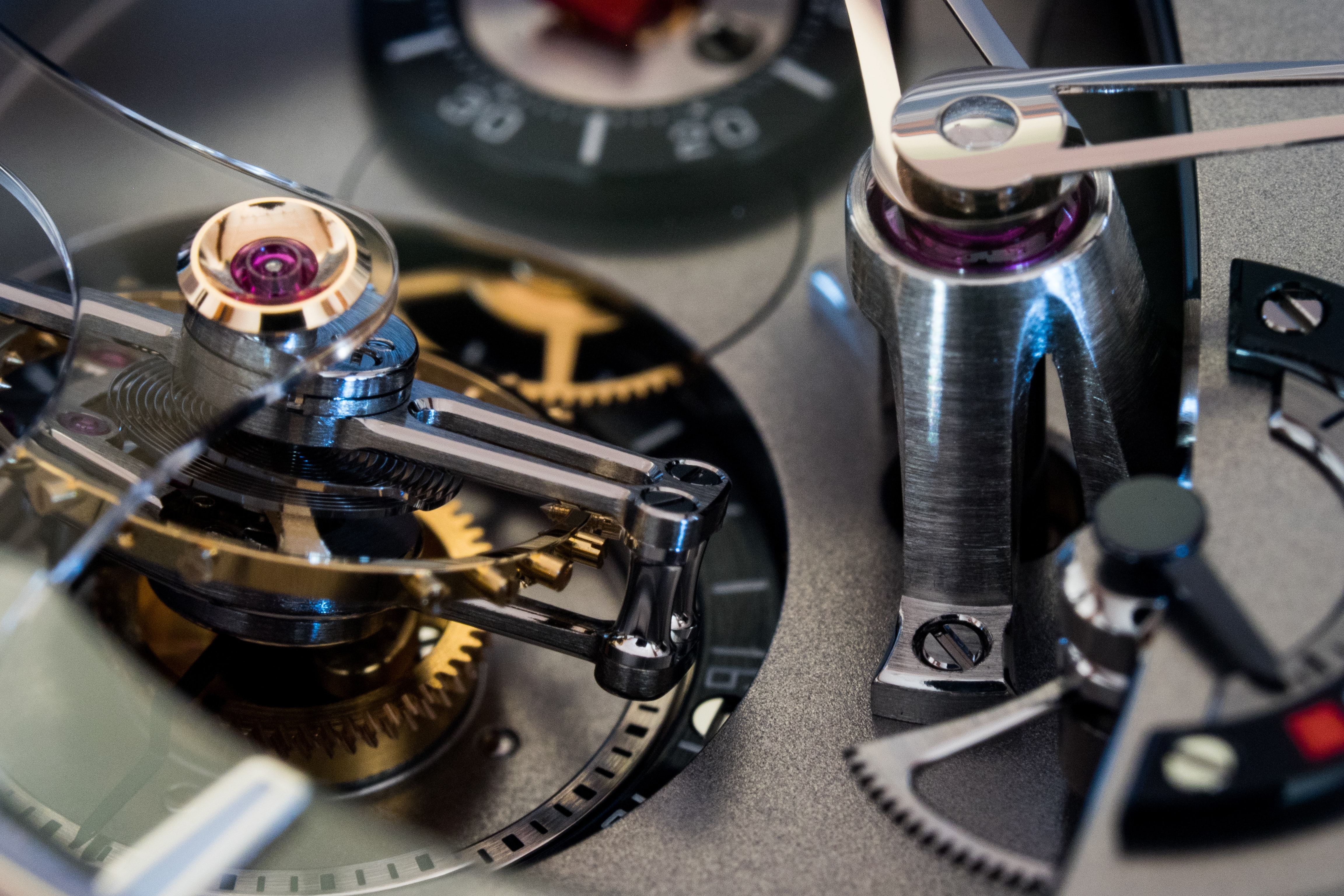 Greubel Forsey 24 Secondes Contemporain pillar for hands and tourbillon cage In-Depth: The Greubel Forsey 24 Secondes Contemporain In White Gold (And The Case For A Tourbillon In A Wristwatch) In-Depth: The Greubel Forsey 24 Secondes Contemporain In White Gold (And The Case For A Tourbillon In A Wristwatch) PC191058