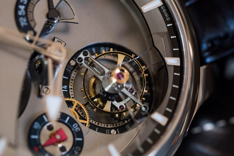 Greubel Forsey 24 Secondes Contemporain top view titanium tourbillon cage
