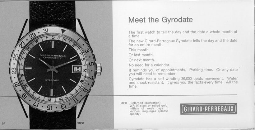Girard-Perregaux Gyrodate Reference 9080 Instructions