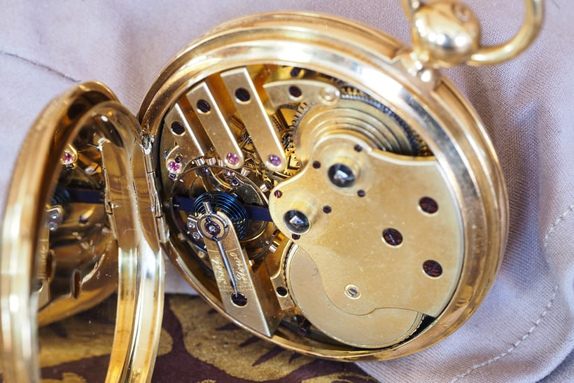 girard perregaux spherical balance spring chain and fusee