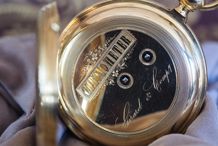 girard perregaux inner dust cover chronometer pocket watch