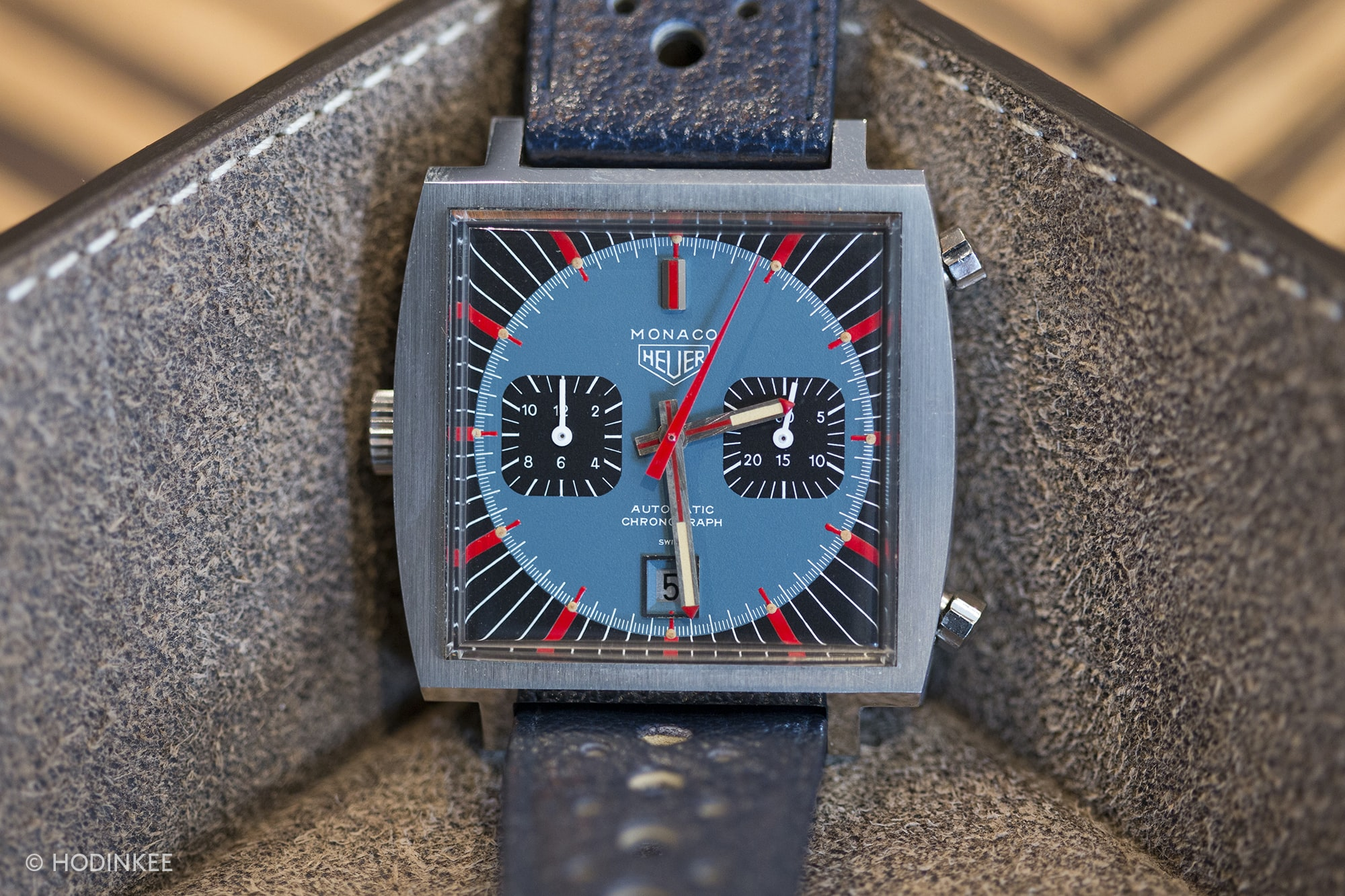 Ever seen one of these before? This is one of many prototype Monacos he owns. Talking Watches: With Morgan King Talking Watches: With Morgan King  20013608 copy
