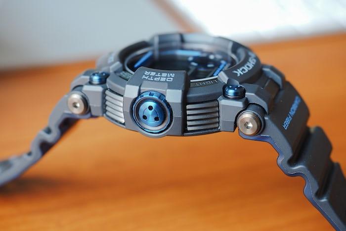 G-Shock Frogman GWF-D1000B depth gauge