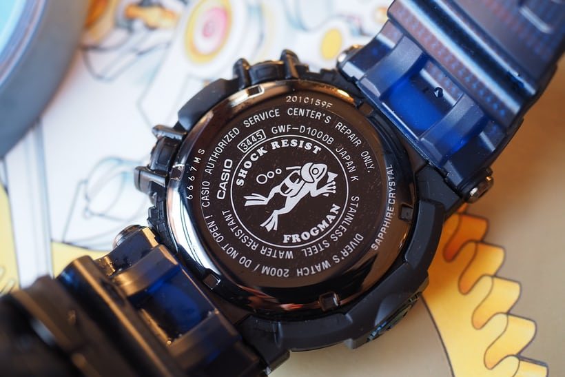 G-Shock Frogman GWF-D1000B case back
