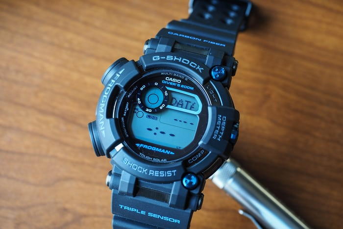 G-Shock Frogman GWF-D1000B dive mode setup screen