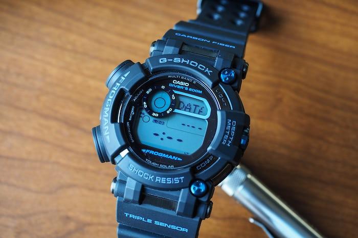G-Shock Frogman GWF-D1000B dive mode setup screen