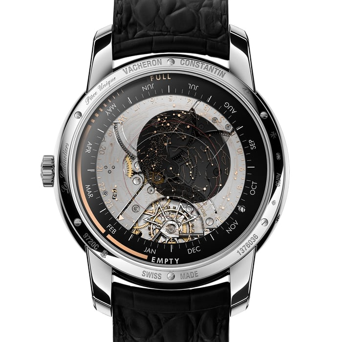 Vacheron Constantin Les Cabinotiers Celestia Astronomical Grand Complication caseback and star chart