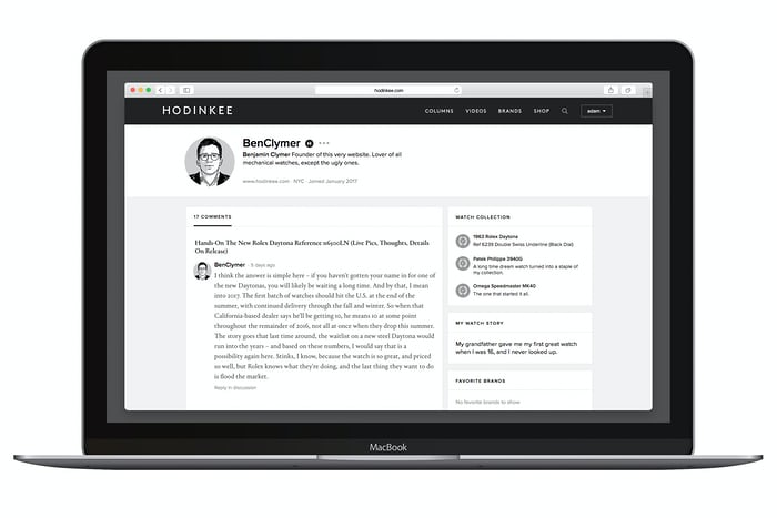 hodinkee community profiles