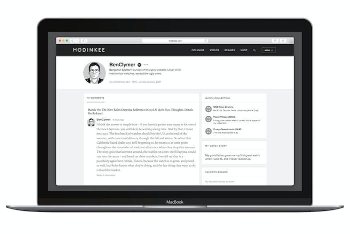 hodinkee community profiles