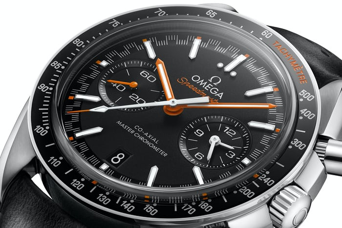 Omega Speedmaster Moonwatch Automatic Master Chronometer orange dial accents