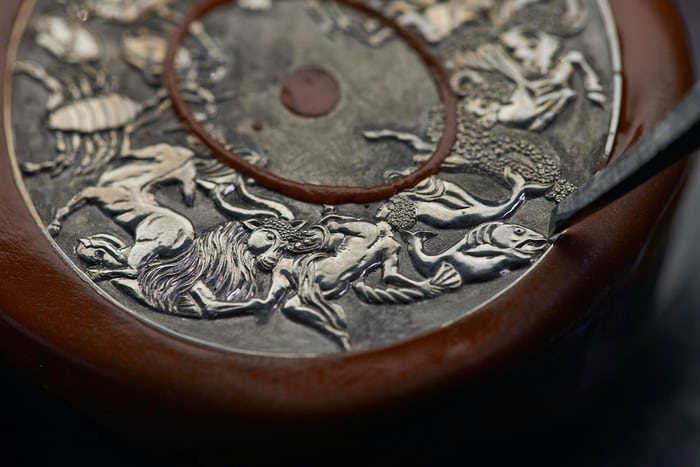 hand engraved opernic 'Celestial Spheres' Metiers d'Art