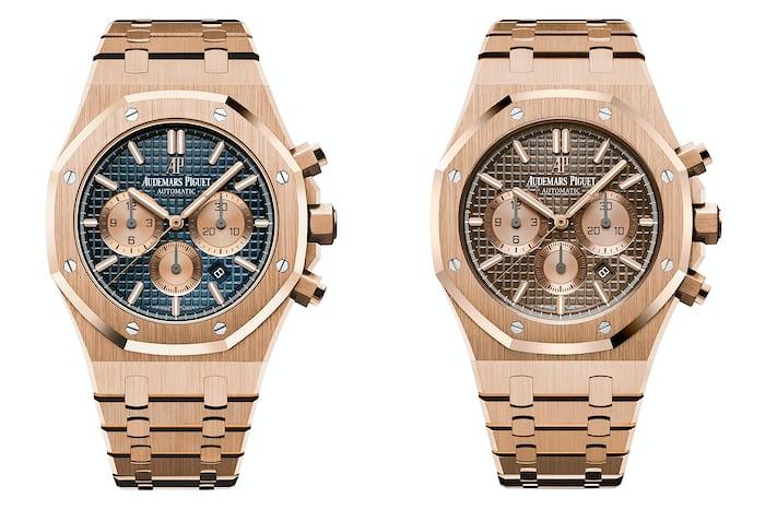 royal oak chronograph audemars piguet sihh 2017 rose gold bracelet