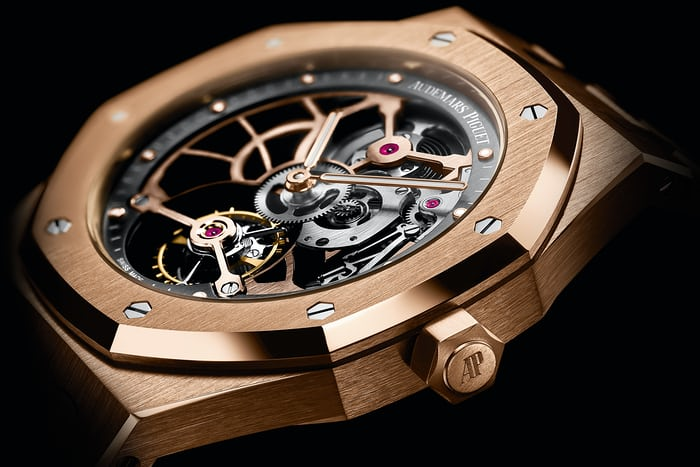 Audemars Piguet Royal Oak Tourbillon Extra-Thin Openworked lateral view dial