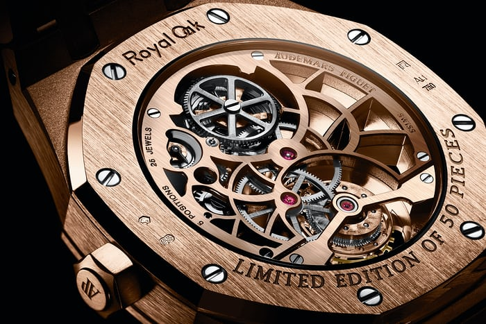 Audemars Piguet Royal Oak Tourbillon Extra-Thin Openworked caseback pink gold