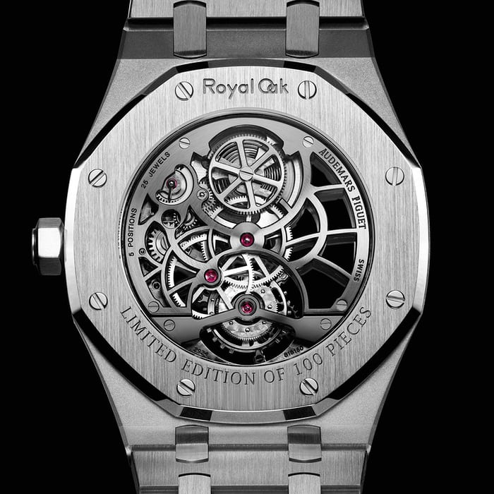 Audemars Piguet Royal Oak Tourbillon Extra-Thin Openworked steel caseback