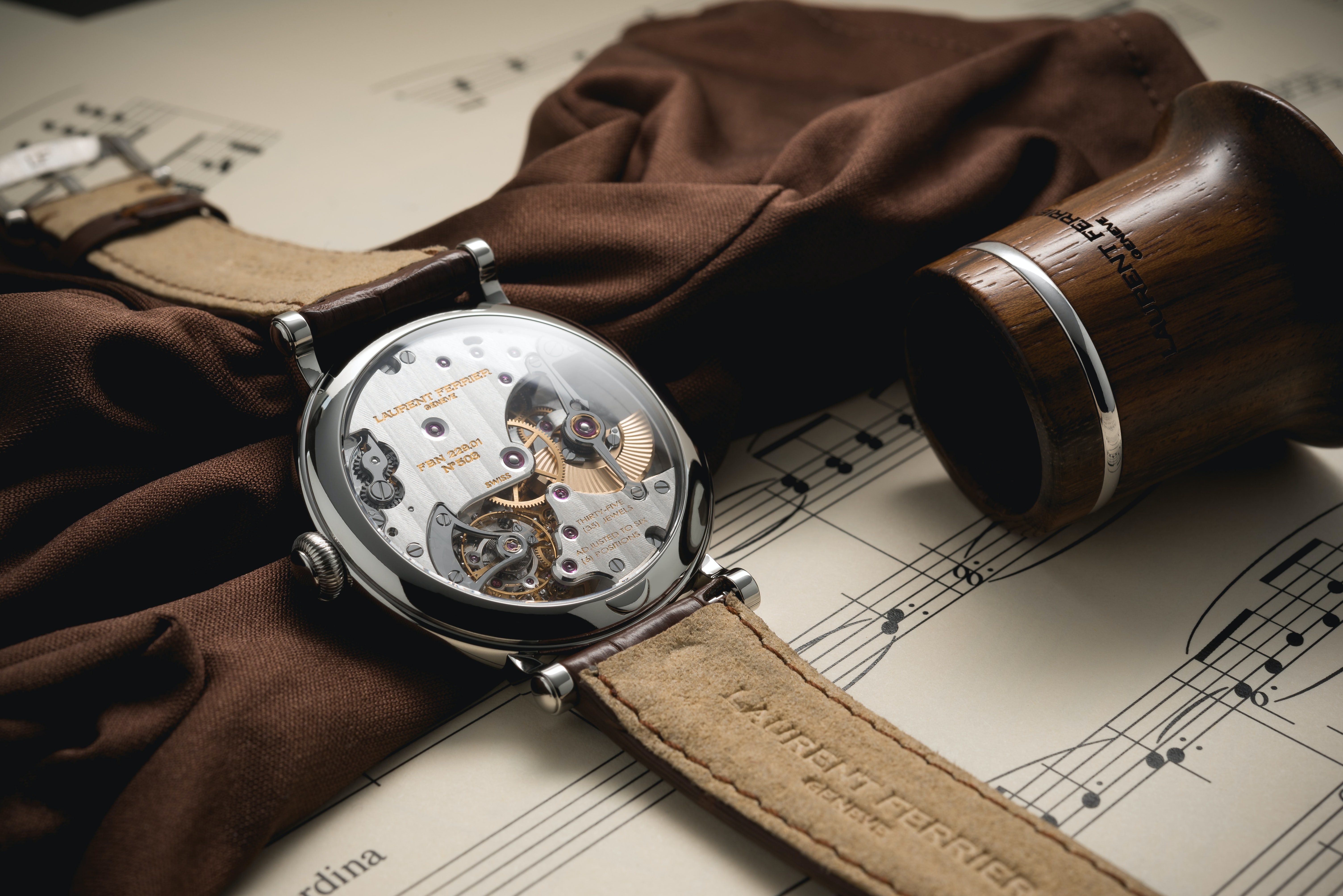 Introducing: The Laurent Ferrier Montre École, A New Case For A Modern Masterpiece Of A Movement Introducing: The Laurent Ferrier Montre École, A New Case For A Modern Masterpiece Of A Movement LF MONTRE ECOLE WG BACK LIFESTYLE