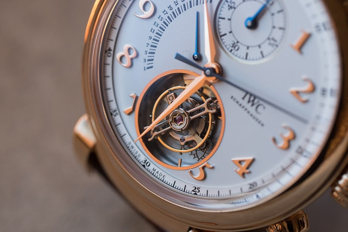 Da Vinci Tourbillon Rétrograde Chronograph flying tourbillon carriage