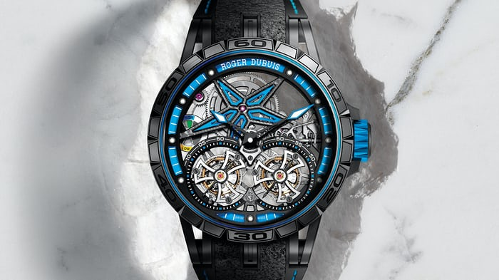 Roger Dubuis Excalibur Spider Pirelli With Double Flying Tourbillon Limited Edition SIHH 2017