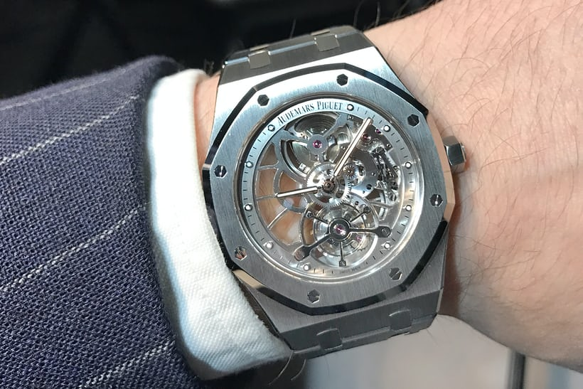 1fc70ccce37 Audemars Piguet Royal Oak Tourbillon Extra-Thin Openworked Steel wristshot