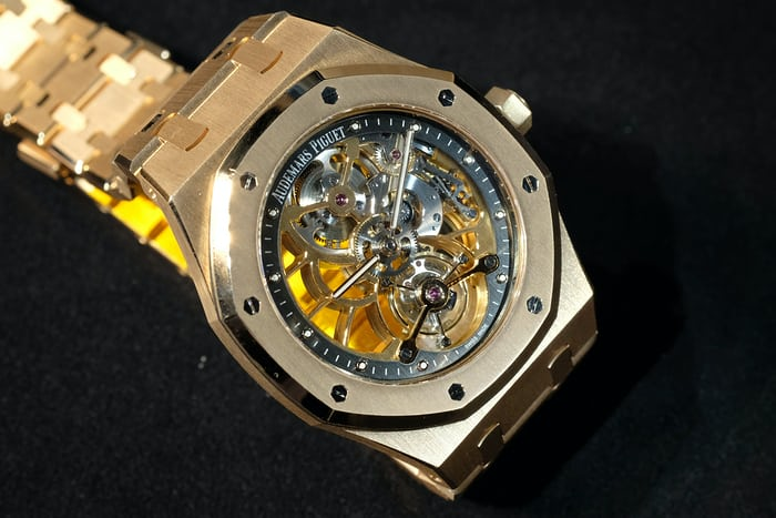Audemars Piguet Royal Oak Tourbillon Extra-Thin Openworked rose gold