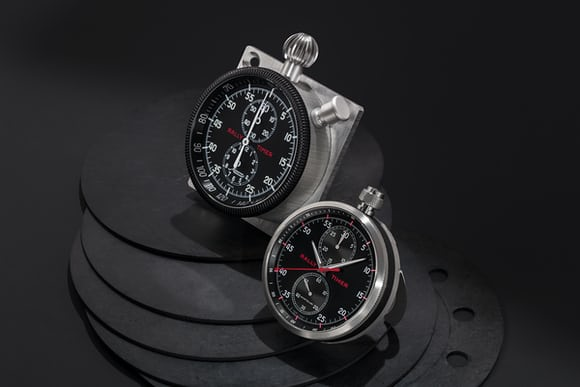 Vintage and modern Minerva and Montblanc rally timers