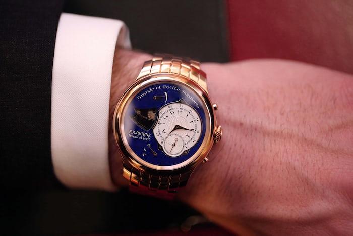 A Unique Pink Gold F.P. Journe Sonnerie Souveraine wrist shot