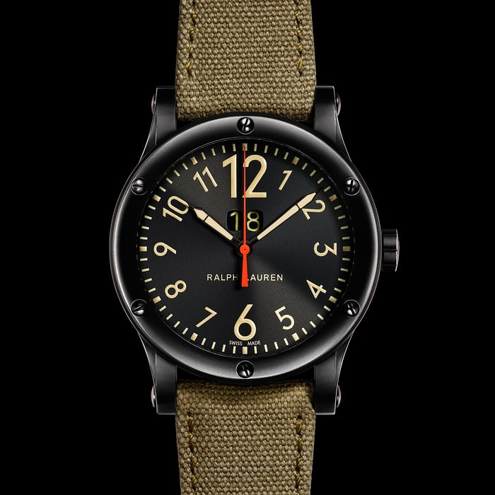 Ralph Lauren RL67 Safari Grand Date 50mm black dial