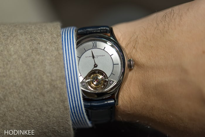 Laurent Ferrier Galet Tourbillon Open Dial wrist shot