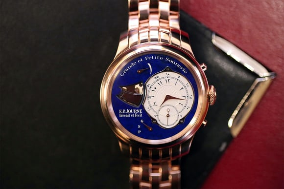 A Unique Pink Gold F.P. Journe Sonnerie Souveraine lapis dial