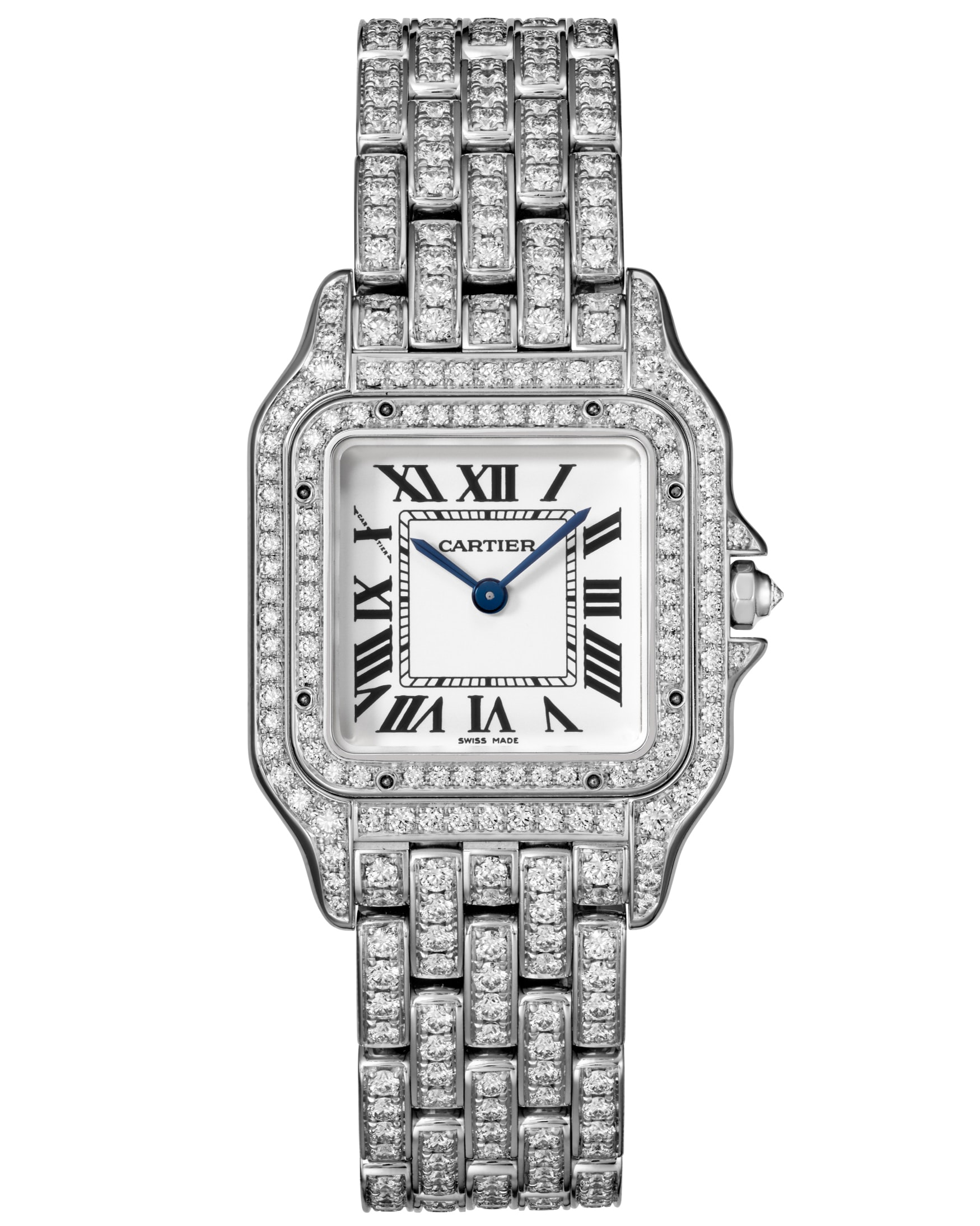 Small model, white gold and diamonds. Introducing: The Cartier Panthère De Cartier Collection, Re-Introduced For 2017 Introducing: The Cartier Panthère De Cartier Collection, Re-Introduced For 2017 10B PANTHERE DE CARTIER HPI01130