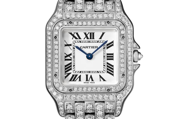 Panthère De Cartier small, white gold, full diamond set