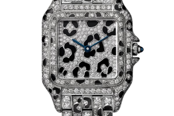 Panthère De Cartier medium white gold, diamond set, panther motif