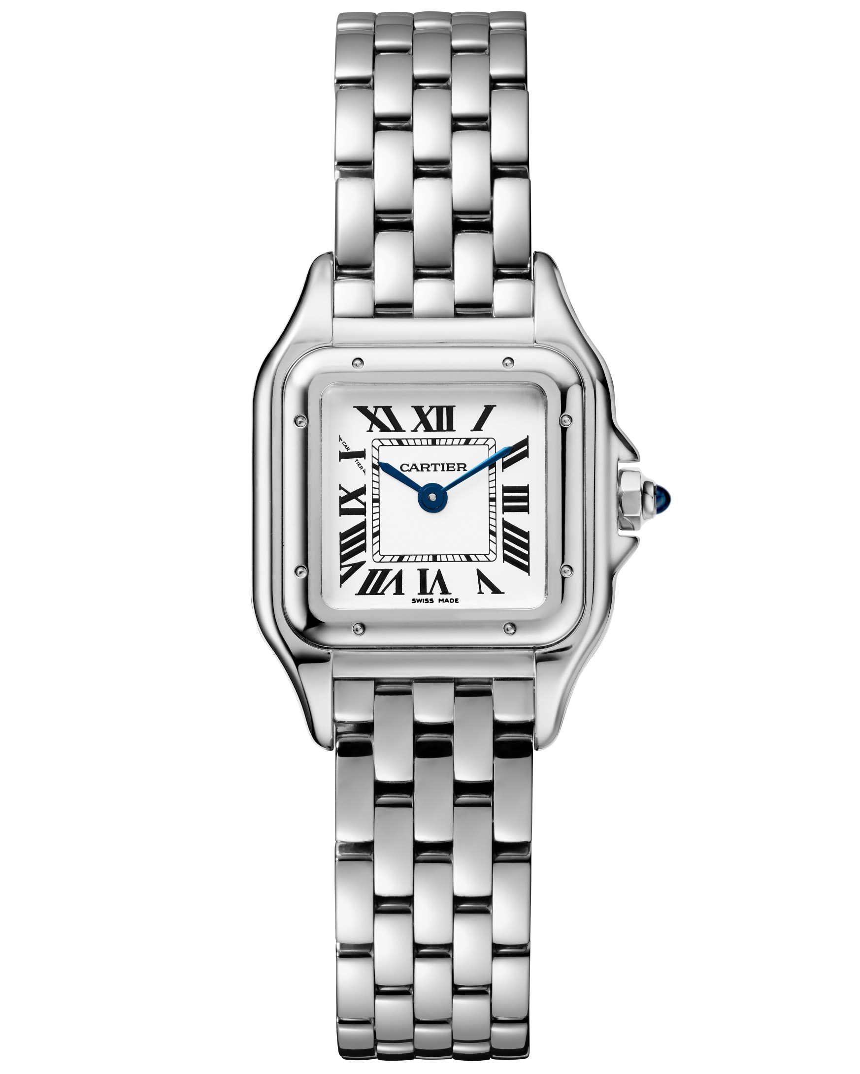Small model, stainless steel.  Introducing: The Cartier Panthère De Cartier Collection, Re-Introduced For 2017 Introducing: The Cartier Panthère De Cartier Collection, Re-Introduced For 2017 18B PANTHERE DE CARTIER WSPN0006