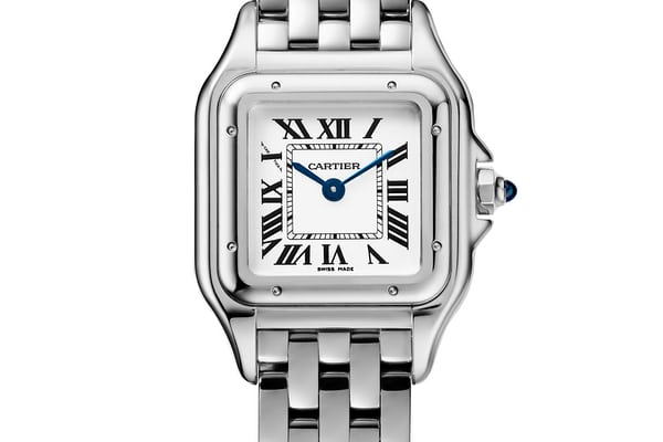Panthère De Cartier small model, stainless steel