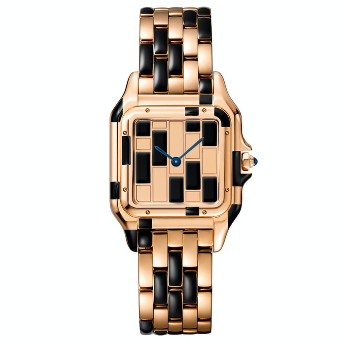 Panthère De Cartier rose gold and black lacquer