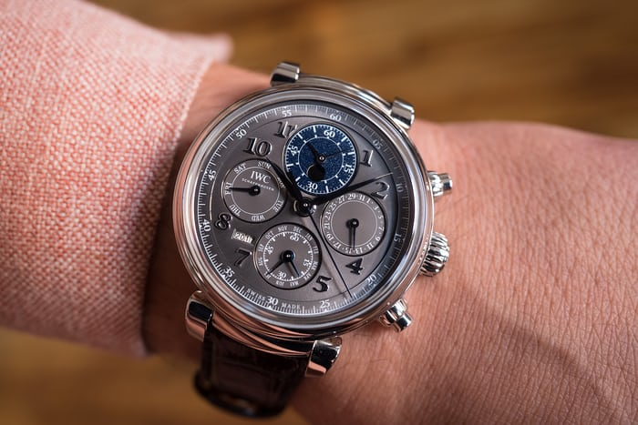 IWC Da Vinci Perpetual Calendar Chronograph, In Steel wristshot