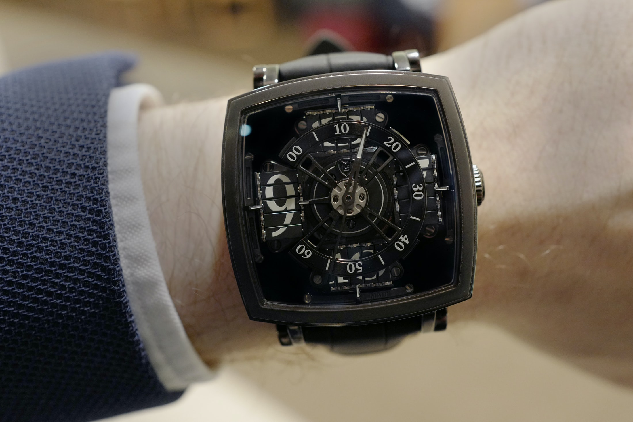 mct vantablack sequential one wristshot Hands-On: The MCT Sequential One 110 Evo Vantablack, The Darkest Watch Ever Made Hands-On: The MCT Sequential One 110 Evo Vantablack, The Darkest Watch Ever Made vantablack 01