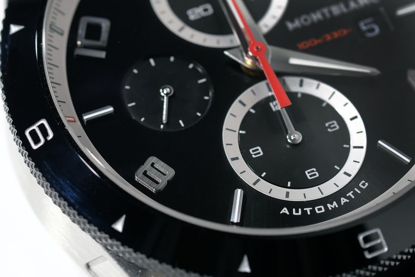 montblanc timewalker chronograph dial detail
