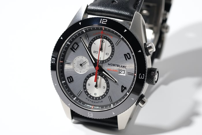 montblanc timewalker chronograph silver dial