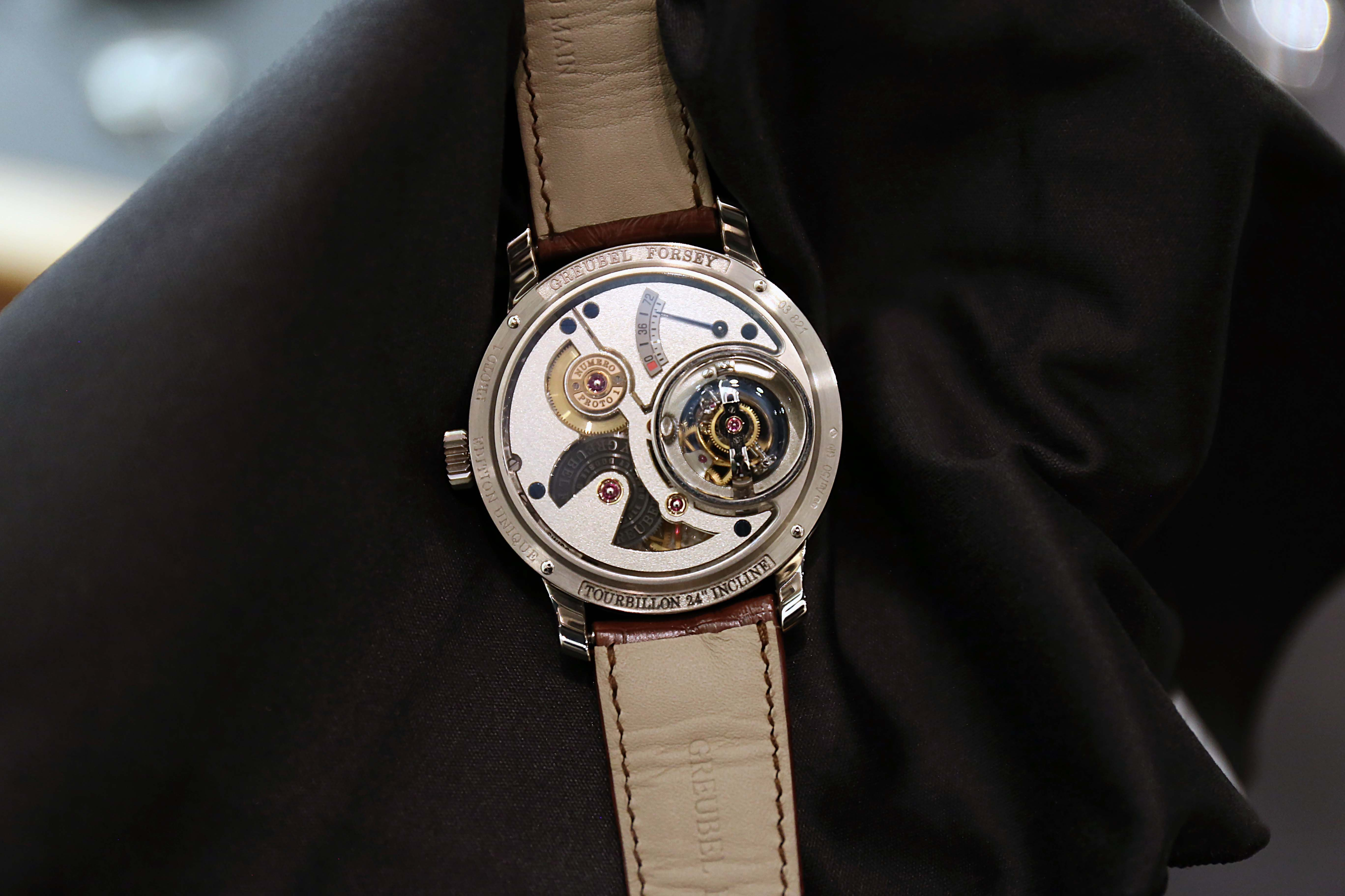 Greubel Forsey Tourbillon 24 Secondes Vision Chocolate Dial Back Hands-On: The Greubel Forsey Tourbillon 24 Secondes Vision In Platinum With A Chocolate Brown Dial Hands-On: The Greubel Forsey Tourbillon 24 Secondes Vision In Platinum With A Chocolate Brown Dial IMG 4440