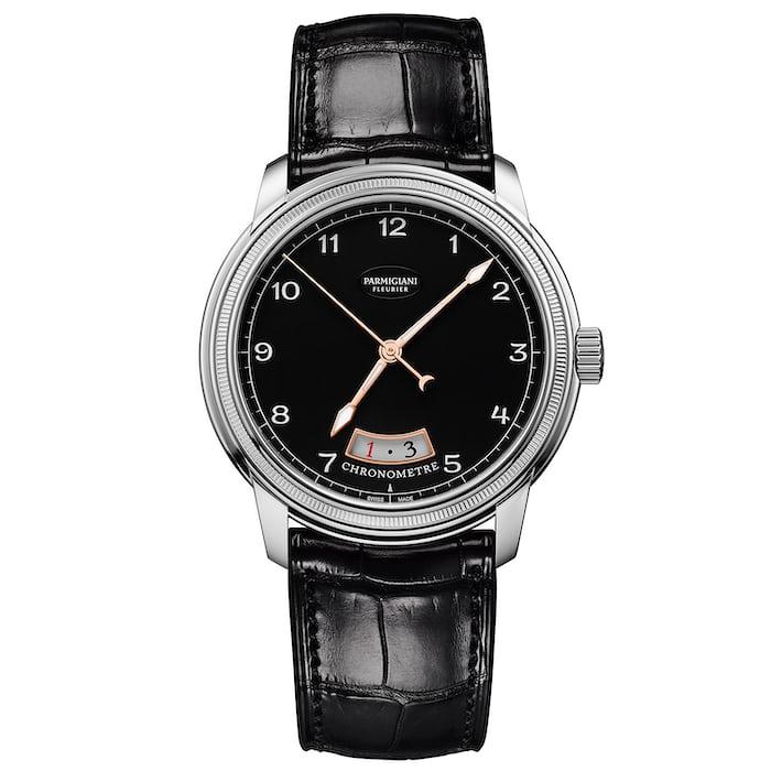 Parmigiani Fleurier Toric Chronomètre black dial white gold