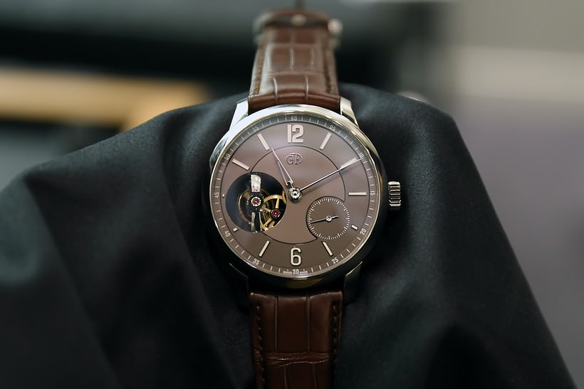 platinum Greubel Forsey Tourbillon 24 Secondes Vision, with chocolate dial.
