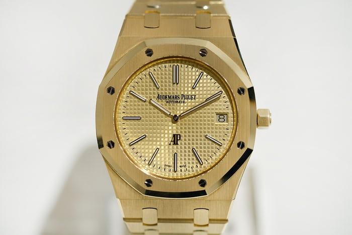 yellow gold dial royal oak jumbo audemars piguet