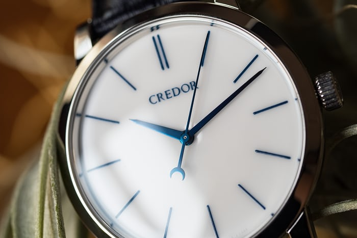 Credor Eichi II porcelain dial and hands