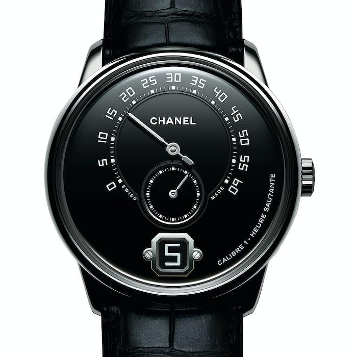 monsieur de chanel platinum black dial
